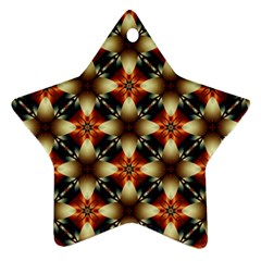 Kaleidoscope Image Background Star Ornament (two Sides)