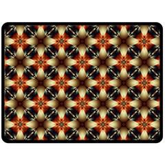 Kaleidoscope Image Background Fleece Blanket (large)