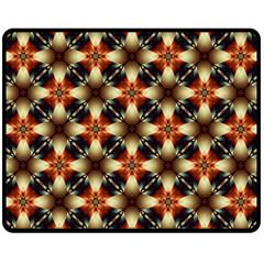 Kaleidoscope Image Background Double Sided Fleece Blanket (medium)