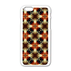 Kaleidoscope Image Background Apple Iphone 6/6s White Enamel Case
