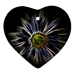 Flower Structure Photo Montage Ornament (Heart)
