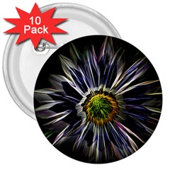 Flower Structure Photo Montage 3  Buttons (10 pack)