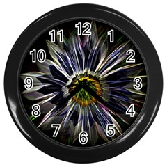 Flower Structure Photo Montage Wall Clocks (black)