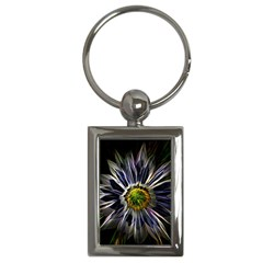 Flower Structure Photo Montage Key Chains (Rectangle)