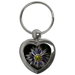 Flower Structure Photo Montage Key Chains (Heart)