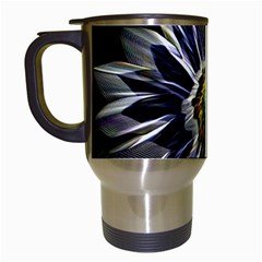 Flower Structure Photo Montage Travel Mugs (white)