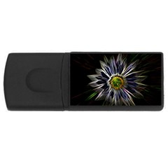 Flower Structure Photo Montage USB Flash Drive Rectangular (4 GB)