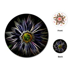 Flower Structure Photo Montage Playing Cards (Round)