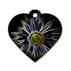 Flower Structure Photo Montage Dog Tag Heart (One Side)
