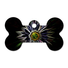 Flower Structure Photo Montage Dog Tag Bone (Two Sides)
