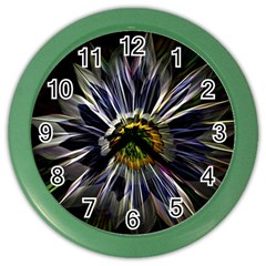 Flower Structure Photo Montage Color Wall Clocks