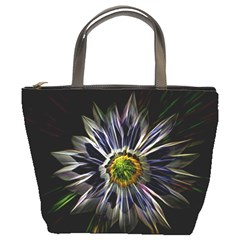 Flower Structure Photo Montage Bucket Bags