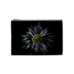 Flower Structure Photo Montage Cosmetic Bag (medium)