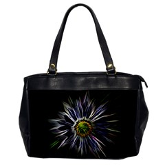 Flower Structure Photo Montage Office Handbags