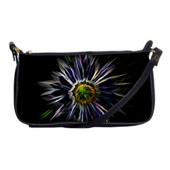 Flower Structure Photo Montage Shoulder Clutch Bags
