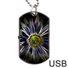 Flower Structure Photo Montage Dog Tag Usb Flash (two Sides)