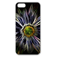 Flower Structure Photo Montage Apple Seamless Iphone 5 Case (clear)