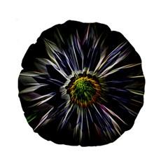 Flower Structure Photo Montage Standard 15  Premium Round Cushions