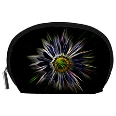 Flower Structure Photo Montage Accessory Pouches (Large)