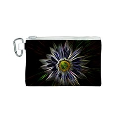 Flower Structure Photo Montage Canvas Cosmetic Bag (s)