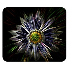 Flower Structure Photo Montage Double Sided Flano Blanket (Small)