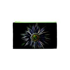 Flower Structure Photo Montage Cosmetic Bag (XS)