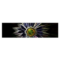 Flower Structure Photo Montage Satin Scarf (Oblong)
