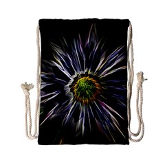 Flower Structure Photo Montage Drawstring Bag (small)