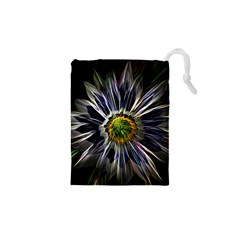Flower Structure Photo Montage Drawstring Pouches (XS)
