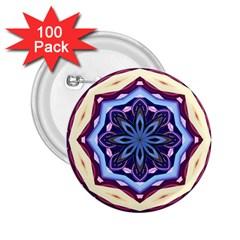 Mandala Art Design Pattern 2 25  Buttons (100 Pack)