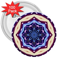 Mandala Art Design Pattern 3  Buttons (100 pack)