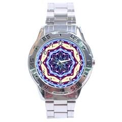 Mandala Art Design Pattern Stainless Steel Analogue Watch