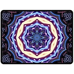 Mandala Art Design Pattern Double Sided Fleece Blanket (large)