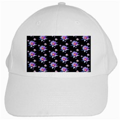 Flowers Pattern Background Lilac White Cap