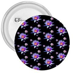 Flowers Pattern Background Lilac 3  Buttons