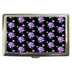Flowers Pattern Background Lilac Cigarette Money Cases