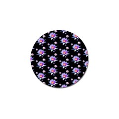 Flowers Pattern Background Lilac Golf Ball Marker (4 pack)