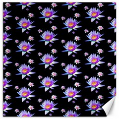 Flowers Pattern Background Lilac Canvas 20  X 20
