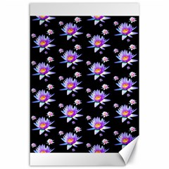 Flowers Pattern Background Lilac Canvas 24  X 36