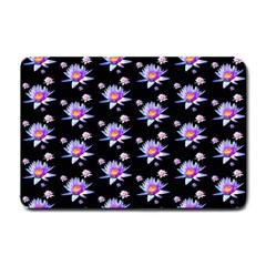 Flowers Pattern Background Lilac Small Doormat