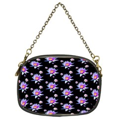 Flowers Pattern Background Lilac Chain Purses (One Side)