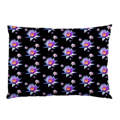 Flowers Pattern Background Lilac Pillow Case
