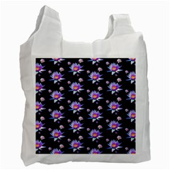 Flowers Pattern Background Lilac Recycle Bag (two Side)