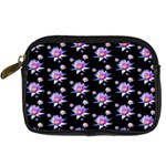 Flowers Pattern Background Lilac Digital Camera Cases Front