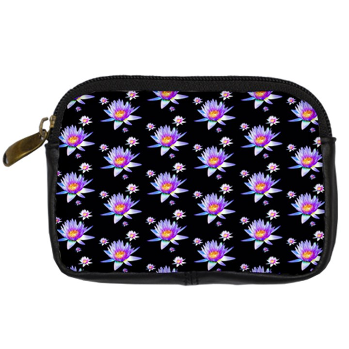 Flowers Pattern Background Lilac Digital Camera Cases