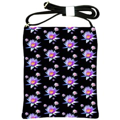 Flowers Pattern Background Lilac Shoulder Sling Bags