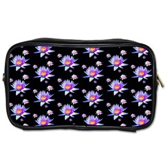 Flowers Pattern Background Lilac Toiletries Bags