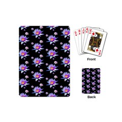 Flowers Pattern Background Lilac Playing Cards (mini)