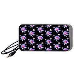 Flowers Pattern Background Lilac Portable Speaker (Black)