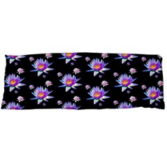 Flowers Pattern Background Lilac Body Pillow Case Dakimakura (Two Sides)